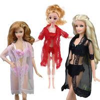 Poupée barbie vêtements mini sexy lace pyjama + bra + sous - vêtements