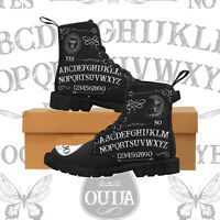 Studded Goth Zip - Combat Ankle Boots - Pentagram - Ouija board - Witchcraft