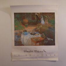 Poster reproduction Claude MONET Le Déjeuner photo BULLOZ 1988