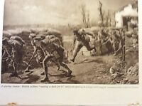 m17c8 ephemera ww1 picture british soldiers make a dash for it western front