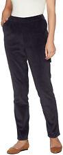 Denim & Co. Regular Slim Leg Wide Wale Corduroy Pants With Pockets Size Plus 24