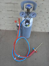 Kit saldatura autogena  riduttori    cannello  tubi  bombola ossigeno e gas map