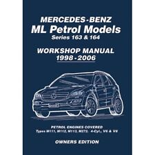 Mercedes ML ML230 ML320 ML350 ML370 ML430 ML500 163 & 164 Workshop Manual MBLPWH