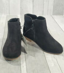 Toddler Girl's Penelope Ankle Boots Sz 11 Black Faux Suede Bootie Cat & Jack