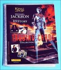 """Album PANINI """"TRADING CARDS"""", Michael JACKSON, """"History"""", complet, PARFAIT état"""