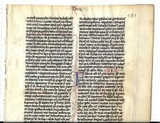 1 Leaf Rare 13th Cent. Vellum Latin Vulgate Bible Manuscript + Textual Variant