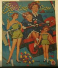 VINTAGE BIG 'N' LITTLE SISTER Cut Out Book PAPER DOLLS UNCUT