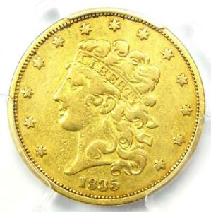 1835 Classic Gold Half Eagle $5 Coin - Certified PCGS VF Details - Rare!