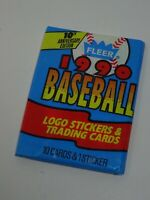 1990 Fleer MLB American Baseball Trading Card Pack of 10 & 1 Sticker