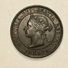 1897 Canada Cent Coin, Victoria, KM# 7, AU details
