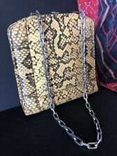 Vintage Snake Skin Purse Clutch with Chain …beautiful accent piece