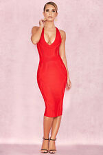 f04be8bb880 HOUSE OF CB  Cici  Red Deep V Plunge Bandage Dress M 10   12