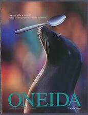 Sea Lion Oneida Spoon Vintage Print Ad 1999