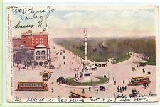 Vintage 1906 Postcard ~New York Circle Entrance to Central Park Columbus Statue
