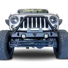 Bull Guard Front High Rise Bumper w/ LED Fog for Jeep Wrangler JK 2007-2018