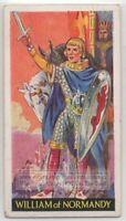 William the Conqueror Duke of Normandy 1930s Ad Trade Card