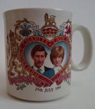 Commemorative Mugs X2 Royal Wedding of Prince Charles & Lady Diana July 1981