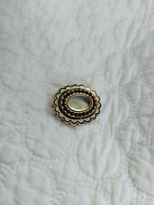 ANTIQUE Victorian Gold Filled Garnets Enamel Hair Mourning Pin Hair Locket