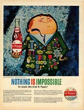 """1960 Dr. Pepper Ad: """"Nothing is Impossible for People who Drink Dr. Pepper."""""""