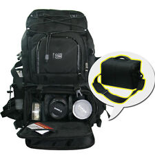 "Large Waterproof DSLR Camera Backpack 17"" Laptop Rucksack Padded + Shoulder Bag"