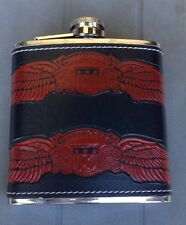 Leather Design Wrapped Stainless Steel Flask