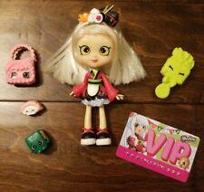 Sara Sushi Season 1 Shopkins Shoppie Doll in VGUC plus accessories HTF