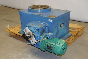 """Machines Dubuit RTp 250 12"""" Rotary Indexer Indexing Table 240/380VAC 3-Phase"""