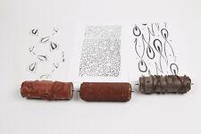 3x Musterwalzen Malerwalzen Strukturwalze 50er Jahre  - 15cm Gummi weich - 2619