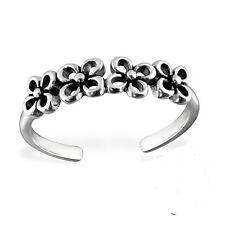 Vintage Flower Cut Out Sterling Silver Toe Ring