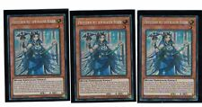 3 x Priestess with the Blue Eyes lckc-de016, German, Secret Rare, Playset