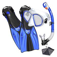 New ListingPromate Spectrum Adult Snorkeling Mask Fins Dry Snorkel Mesh Bag Dive Gear Set
