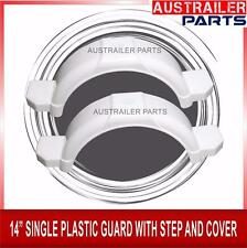 """2 X  14"""" WHITE SINGLE PLASTIC GUARD WITH STEPS AND COVER"""