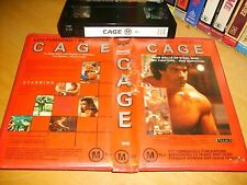 Vhs *CAGE(1989)* RARE Australian Palace Entertainment - Cult Raw Action Edition!