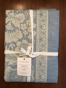"""William Sonoma Vintage Floral Jacquard Tablecloth, 70""""X 108"""", $149.95, New."""