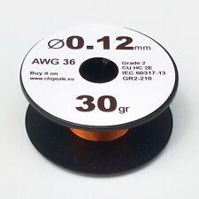 0.12 mm 36 AWG Gauge 30 gr ~290 m (1 oz) Magnet Wire Enameled Copper Coil