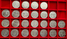 2 Mark German Silver Coins 1936-1939 Complete Set WWII Third Reich Reichsmarks