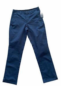 Oakley Men's Foggy Blue Icon Chino Cotton Blend Golf Pants 422629 Size 30 X 32