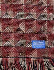"Red Geometric PENDILTON 54X70"" Wool Throw Blanket"