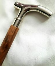 Victorian Antique Vintage Solid Brass Beautiful Wooden Walking Cane Stick Gift