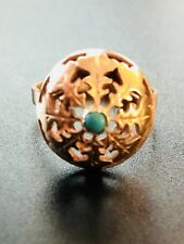 Antique Russian 14 K Rose Gold And Turquoise Womens Ring