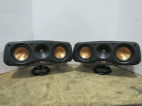 LOT of 2 Klipsch RCX-4 Passive Center Channel Speakers Tested and Working