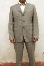 Navigare SUPER 110's GREY WOOL SUIT JACKET & TROUSERS Checked 54 UK 44 W36 SUPER