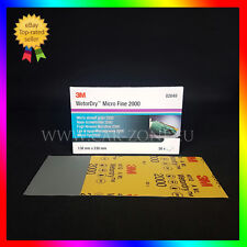 50x3M Feuille abrasive Wetordry P2000 (02049) Papier abrasif 138x230mm-50 pièces
