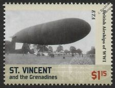 WWI British Army / Royal Aircraft Factory ETA Airship Blimp Stamp