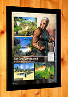 Far Cry Vengeance Very Rare Small Poster / Ad Page Framed Ubisoft Wii