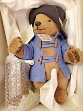 "LM R. John Wright Paddington Bear Teddy 15"" Jointed Bear Plush w/ Suitcase & Jam"