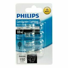 Philips 416024 Landscape Lighting 18 Watt T5 12V Light Bulbs Wedge Base