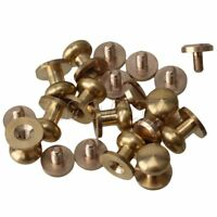 10pcs 9x7x9mm Leather Craft Belt Wallet Solid Brass Nail Rivets Chicago Screws