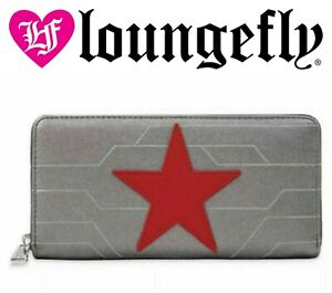 Loungefly Marvel Comic Wallet Winter Soldier New with tags Disney Gray Star New