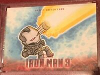 2013 Upper Deck Marvel Iron Man 3 Artist Sketch card 1/1 Auto B17